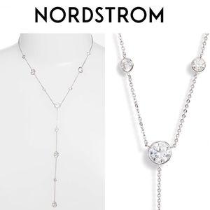 Nordstrom Bezel Stone Station Y-Necklace